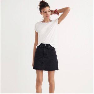 Madewell Frisco Denim Mini Skirt Lunar Wash